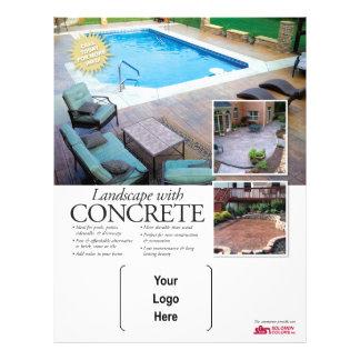 Concrete Landscaping with Solomon 21.5 Cm X 28 Cm Flyer