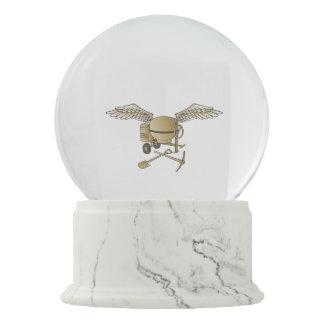 Concrete mixer beige snow globes