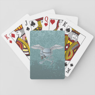Concrete mixer blue-gray playing cards