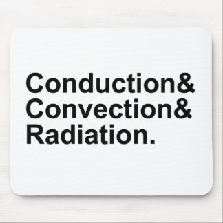 Conduction Convection Radiation   Heat Transfer Mouse Pad