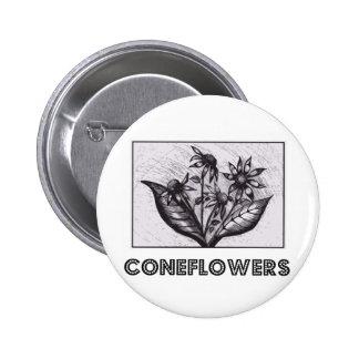 Coneflowers 6 Cm Round Badge