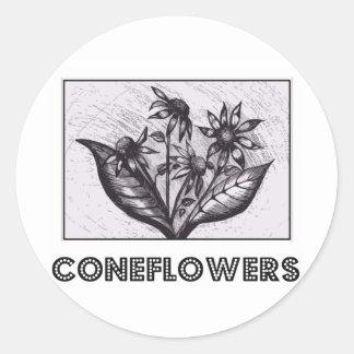 Coneflowers Round Sticker