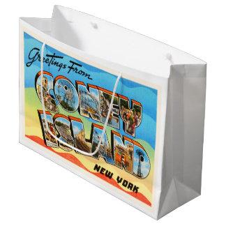 Coney Island #2 New York NY Old Travel Souvenir Large Gift Bag