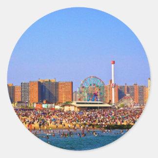 Coney Island beach - NYC sticker