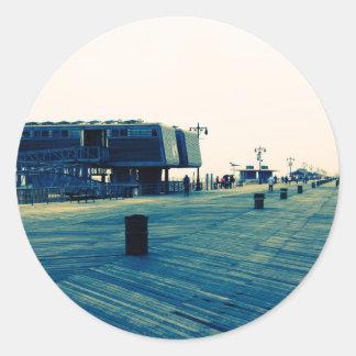 Coney Island Boardwalk Classic Round Sticker