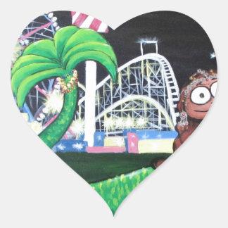 Coney Island Mermaid Heart Sticker
