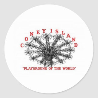 Coney Island New York - Playground of the World Classic Round Sticker