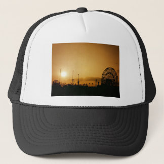 Coney Island Sunset at the Wonder Wheel Trucker Hat
