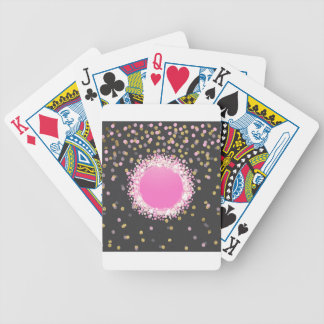 Confetti and monogram bicycle playing cards