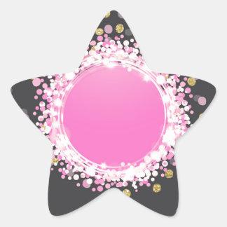Confetti and monogram star sticker