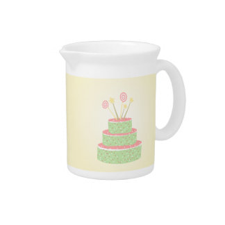 Confetti Cake • Green Birthday Cake Pitcher