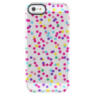 Confetti Dots Clear iPhone SE/5/5s Case