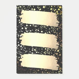 Confetti Faux Gold Foil Look List Grad Graduation Post-it Notes