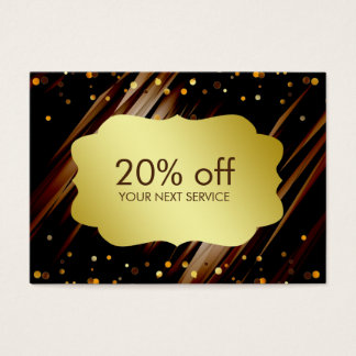 Confetti Gold Coupon Card Voucher Discount Gift