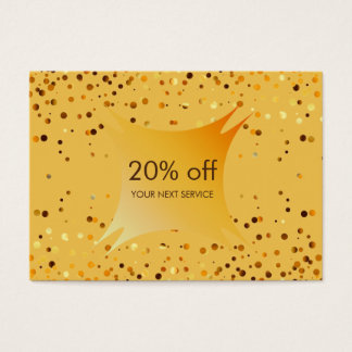 Confetti Gold Coupon Discount Gift Certificate