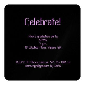Confetti graduation square invitation
