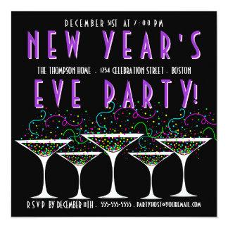 Confetti New Year's Eve Party Invitation