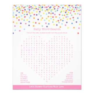 Confetti Theme Baby Shower Game 11.5 Cm X 14 Cm Flyer