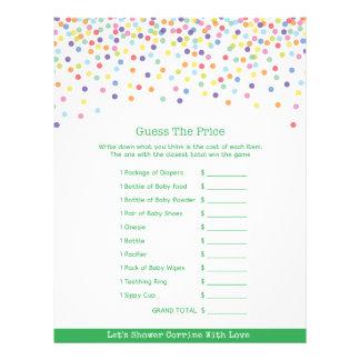 Confetti Theme Baby Shower Game 21.5 Cm X 28 Cm Flyer
