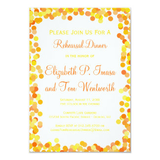 Confetti Wedding Rehearsal Dinner Invitations
