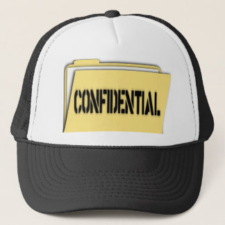 Confidential Folder With Paper Trucker Hat
