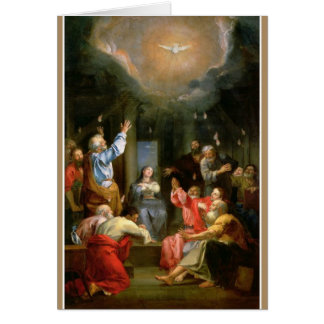 Confirmation Holy Spirit Virgin Mary Apostles Card