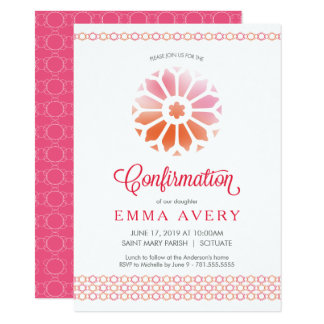 Confirmation Invitation, Customized Girl's Invite
