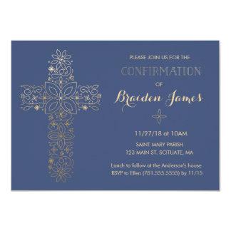 Confirmation Invitation - Gold Cross Invite