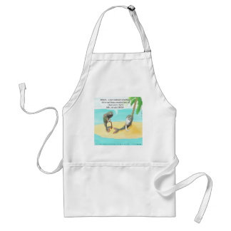 Confused Fish Funny Standard Apron