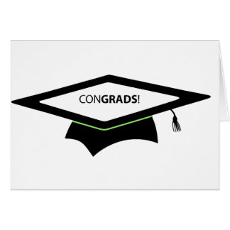 CONGRADS Graduation Greeting Card