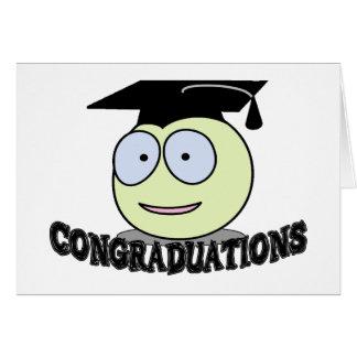 Congraduations Smiley With Grad Cap Card