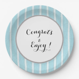 Congrats_Full-Template-Your Words-Oxford-Stripe(c) Paper Plate