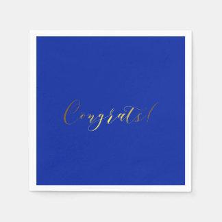 Congrats Gold Foil Effect Paper Napkins