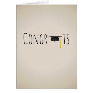 Congrats & Hat Greeting Card