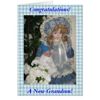 Congratulations a New Grandson Card