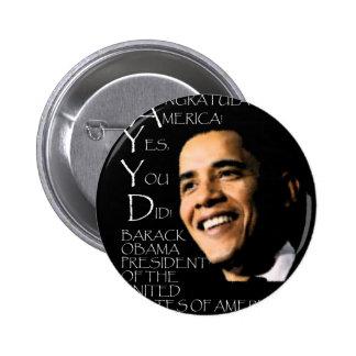CONGRATULATIONS AMERICA round Pins
