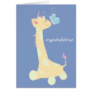 Congratulations (Baby Giraffe / Butterfly) Card