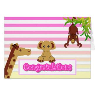 Congratulations, Baby Girl - Customized Card