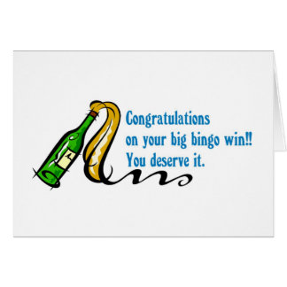 Congratulations bingo winner greeting card
