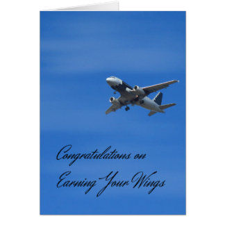 Congratulations Card on Earning Your Wings