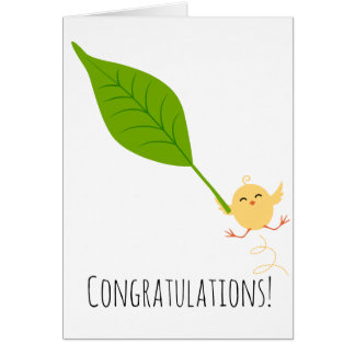 Congratulations Chick Greeting Card