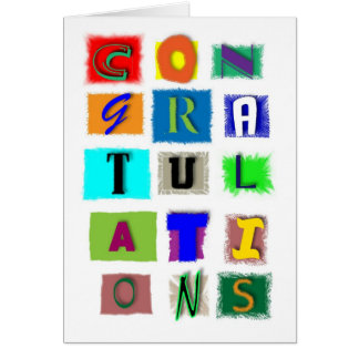 Congratulations for any occasion card