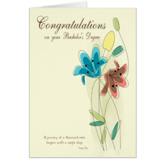 Congratulations for Bachelor's Degree with Flower Card