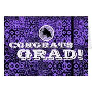Congratulations Grad Card Chic Pattern 5