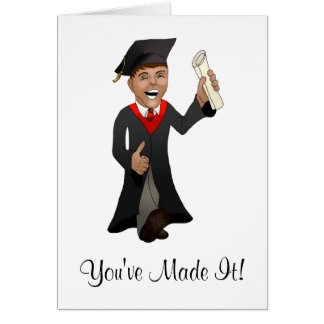 Congratulations Graduate Cartoon Young Man Card