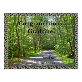 Congratulations Graduate Road to Success Items Postcard