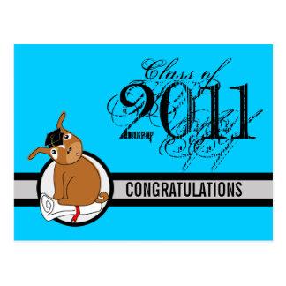 Congratulations Graduation Postcard 10 Puppy