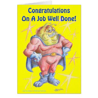 Congratulations, Hero! Card