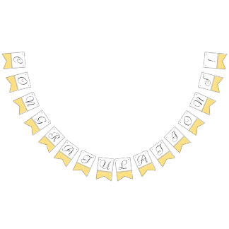 Congratulations! Honeycomb Party Bunting Banner