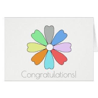 Congratulations Lucky Flower Greeting Card